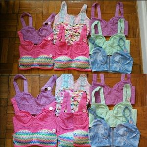 Victoria's Secret Bustier crop Top Bundle